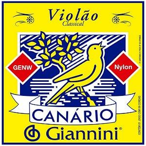 Jogo completo de cordas Nylon para Violão Modelo: Canário Giannini