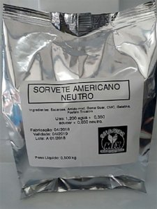 Base Mix Sorvete Americano NEUTRO