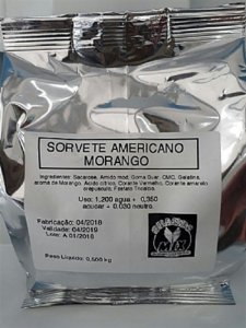 Base Mix Sorvete Americano MORANGO
