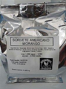 Base Mix Sorvete Americano MORANGO