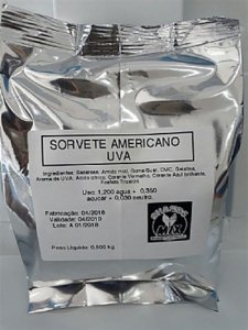 Base Mix Sorvete Americano UVA