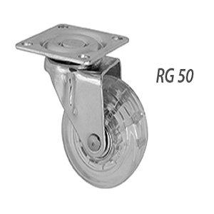 Rodízio Gel RG50 Com Rolamento Incolor Cromado Sem Freio