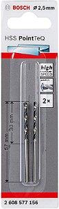 Broca Hss Pointteq 2,5mm (2 Pçs)