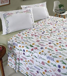 Primavera - Jogo de cama - 4 peças - 100% algodão