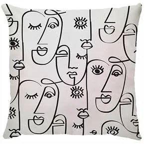 Capa de almofada Faces