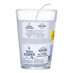 Vela Kosher - Copo de vidro