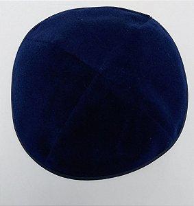 Kipá de Veludo - Azul marinho
