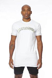Camiseta Tudo Tranquilo Rettrô Tradicional Branca