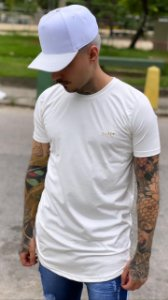 Camisa Long Suede White Nifty