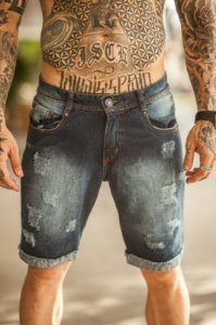 Bermuda Jeans Nifty Rasp Indigo