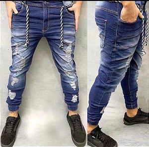 Calça Jeans Jogger Rasgada Destroyed estilosa