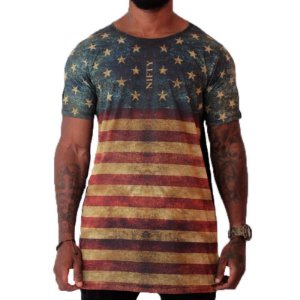 CAMISETA LONG AMERICAN FLAG
