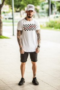 Camiseta Nifty Grid White