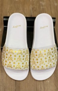 Chinelo Slide Nifty Logo Golden