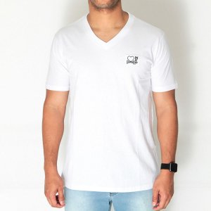 Camiseta Dabliu Costa Dab x Titto V-Neck White