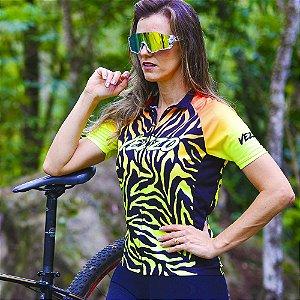 Camisa Ciclotour Feminina TIGER - Fluor Effect