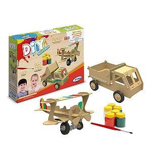 Quebra-Cabeça DIY - Avião e Caminhão de Pintura 3D