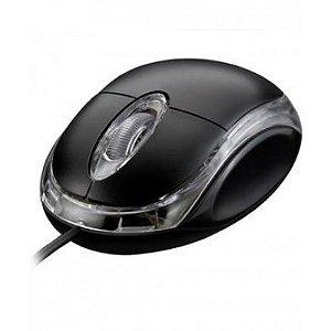 Mouse Colors Preto c/fio
