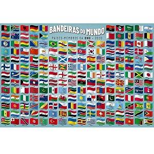 Quebra-Cabeça 200 peças - BANDEIRAS DO MUNDO