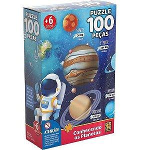 Puzzle 100 peças GROW - CONHECENDO OS PLANETAS