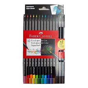 Lápis de Cor ECO SuperSoft 12 cores + 2 EcoGrafite