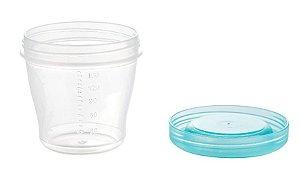 Potinho de papinha (ou pote para armazenar leite materno) 150ml c/ 5 unidades - Kababy - Cód. 1041A