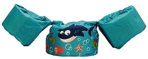 Boia infantil (boia colete infantil) Tubarão Azul - Kababy - Cód. 25101T