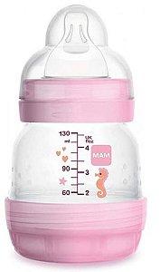 Mamadeira MAM Easy Start (Rosa) 130ml Anti-cólica e Auto-esterilizável