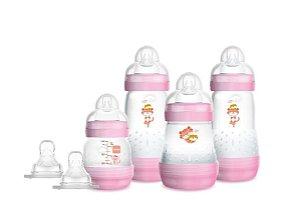 Kit 4 Mamadeira MAM Easy Start (Rosa) - Anti-cólica e Auto-esterilizável