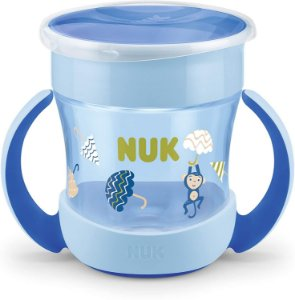 Copo 360 nuk Copo de treinamento magic cup com alça 160ml (azul)