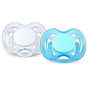 Chupeta Avent Freeflow 0 a 6 meses Dupla (pack com 2 uni) Azul e Branca - SCF178/23 - Philips Avent