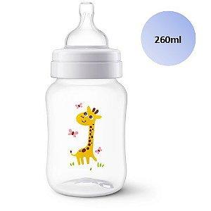 Mamadeira Avent Clássica Anticólica 260ml (Decorada Girafa) - SCF821/12 - Philips Avent