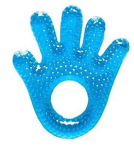 Mordedor para bebê com água Mãozinha (Azul) - Buba - Cód. 5224