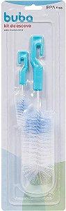 Escova de mamadeira Kit 2 peças (Azul) - Buba - Cód. 5412