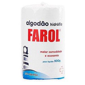 Algodão hidrófilo 500g em rolo - Farol