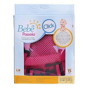 Canguru bebê passeio click (Pink) - Bebê passeio