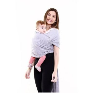Sling wrap Sling para carregar bebê (cinza mescla) - Kababy