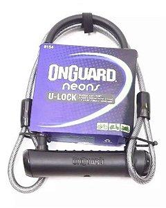 Cadeado U-lock Trava Onguard Neons C/ Cabo Extensor
