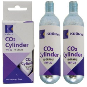 PAR DE REFIL CO2 KRONYO COM 16GR CADA