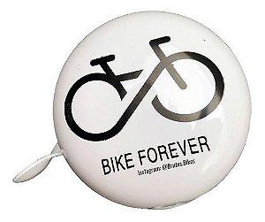 Campainha Dim Dom Bicicleta Tdn-04 Aço Branco Decorada