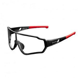 Óculos ciclismo RockBros fotocromático ll 13892 preto/vermelho