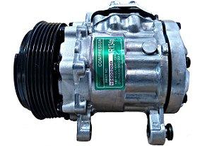 Compressor De Ar 7b10 Adaptação Zexel Gm Corsa 1.0 ano 1999 a 2003