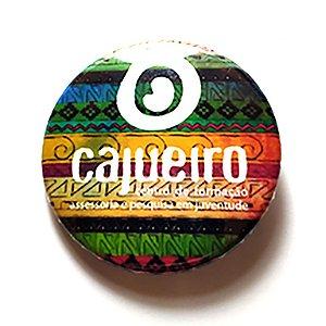 """Botton: Cajueiro - Ilustração """"aguaio"""""""