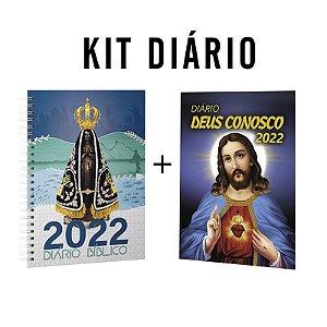 Kit Diário Deus Conosco 2022 - Aparecida + S.C de Jesus