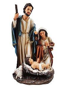 Presépio de Natal Sagrada Família 47 Cm - Resina Importado