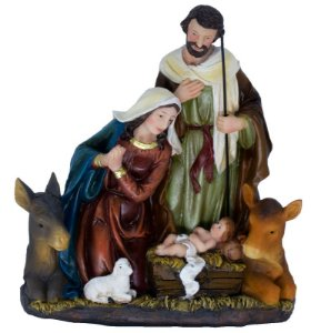 Presépio de Natal Sagrada Família 21 Cm - Resina Importado