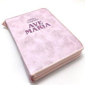 Bíblia Zíper Strike - Média - Rosa