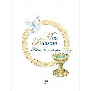 Livro Meu Batismo - Álbum De Recordações - Capa Dura
