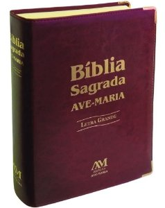 Bíblia Sagrada Ave Maria Letra Grande - Marrom