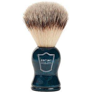 Pincel de Barbear Parker Azul Sintético